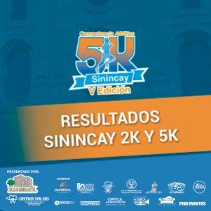 Resultados Sinincay 2k - 5k